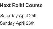reiki course dates